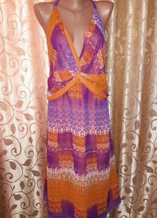 Красивое легкое женское платье, сарафан батального размера marks & spencer1
