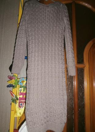 Теплое платье миди2