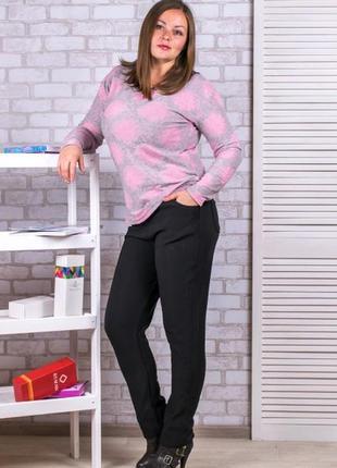 Очень красивые женские термо-брюки на меху! батали, 5хл,7хл, 9 хл. 52-64.1