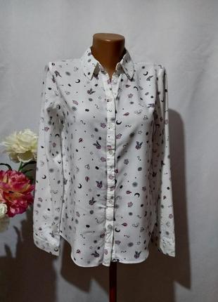 Блузка рубашка в принт1 фото