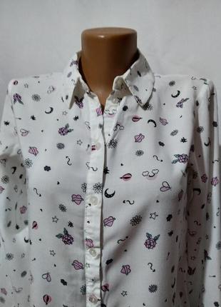 Блузка рубашка в принт3 фото