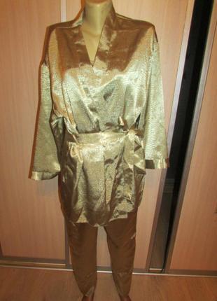 Шикарный комплект халат и пижама uk 40-421