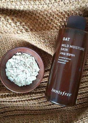 Увлажняющий тонер для нормальной и сухой кожи innisfree oat moisture skin2 фото