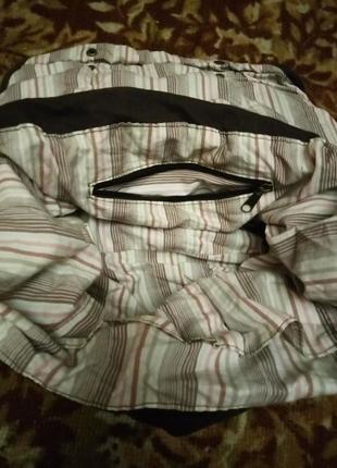 Очень функциональная сумка на подкладке тканевая.4