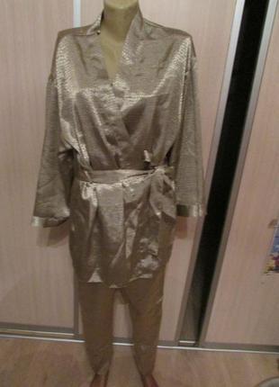 Шикарный комплект халат и пижама uk 40-425