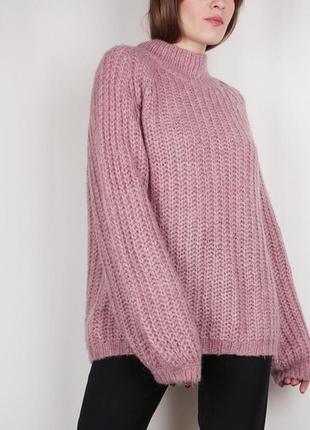 Тёплый свитер с высоким воротом  lindex. в составе шерсть1