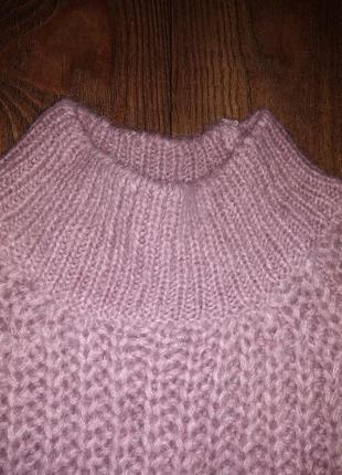 Тёплый свитер с высоким воротом  lindex. в составе шерсть3