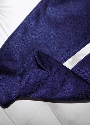 Стильные синие брючки в бельевом стиле3