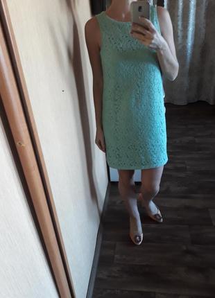 Платье чехол, кружевное1