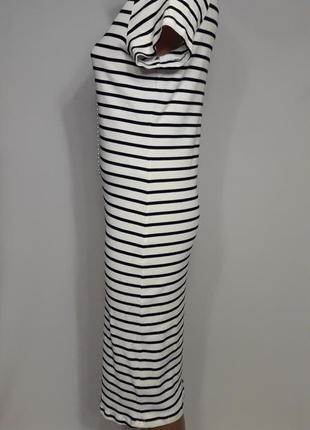Полосатое платье миди2