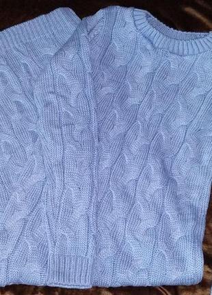 Женское длинное вязаное платье косой (42-48 , много цветов)4