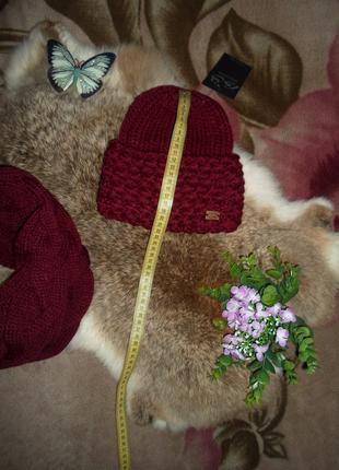 Теплый,зимний набор ,шапка+шарф ,отличное качество ,разные цвета3