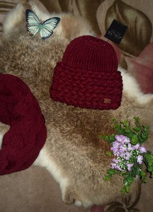 Теплый,зимний набор ,шапка+шарф ,отличное качество ,разные цвета2