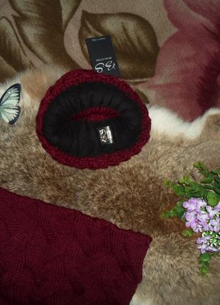 Теплый,зимний набор ,шапка+шарф ,отличное качество ,разные цвета5
