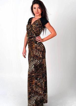 Новое, красивое длинное женское леопардовое платье, сарафан mango1