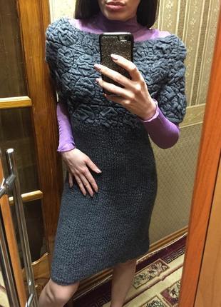 Тёплое новое платье