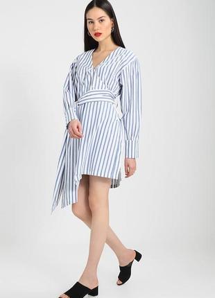 Xs/s летнее стильное хлопковое платье на запах bik bok 11991 фото