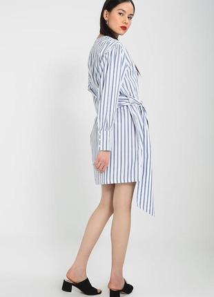 Xs/s летнее стильное хлопковое платье на запах bik bok 11992 фото