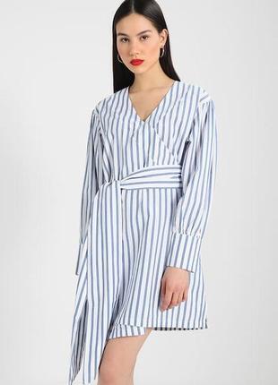 Xs/s летнее стильное хлопковое платье на запах bik bok 11993 фото