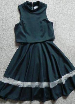 Платье изумрудного цвета4