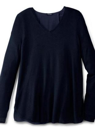 Пуловер с шифоновой cпинкой от тсм tchibo (чибо), германия евро 48/50 (наш 54/56):3