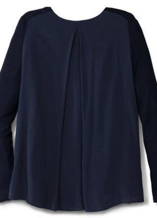 Пуловер с шифоновой cпинкой от тсм tchibo (чибо), германия евро 48/50 (наш 54/56):4