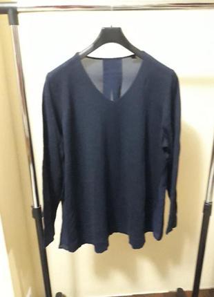 Пуловер с шифоновой cпинкой от тсм tchibo (чибо), германия евро 48/50 (наш 54/56):5