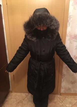 Пуховик курточка куртка натуральный мех