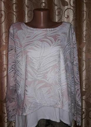 Красивая женская кофта батального размера saloos3