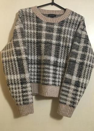 Бомбезный тёплый свитер в клетку от new look