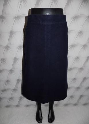 Очень плотная ткань, тёплая юбка миди1 фото