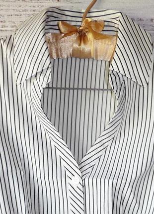 Блуза легкая коттоновая в полоску3
