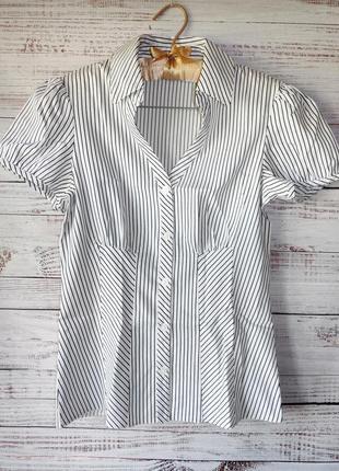 Блуза легкая коттоновая в полоску1