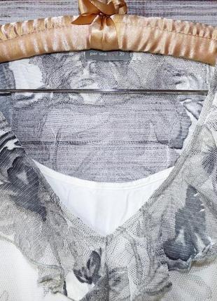 Блуза из кружевной сетки per una3