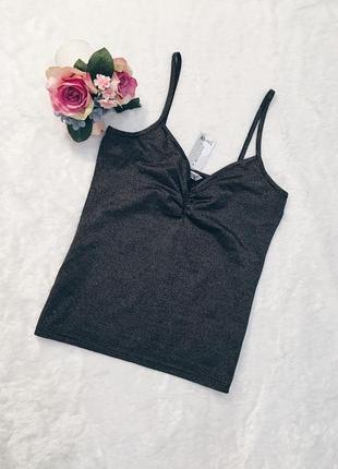 Шикарная новая шиммерная майка-блуза 16-18 размер с биркой!1