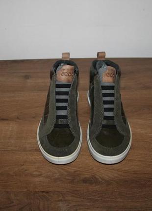 Кожаные ботинки ecco caden2 фото