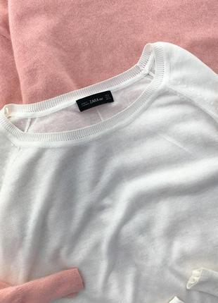 Базовый белоснежный джемпер zara4 фото