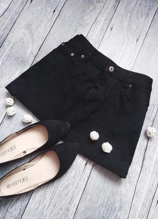 Базовая черная джинсовая мини юбка от mk denim