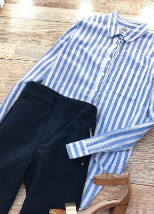 Базовая рубашка в полоску h&m4