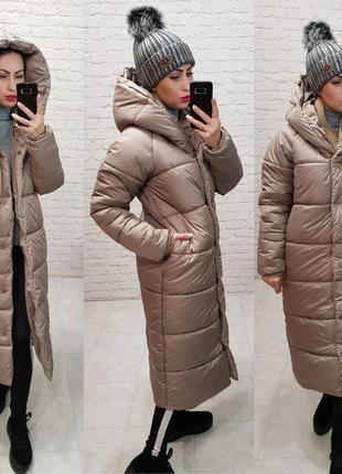 Пальто одеяло зимнее тёплое оверсайз непромокаемое новое стильное и тёплое