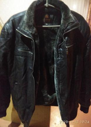 Зимняя мужская куртка из качественной эко кожи