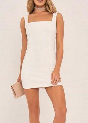 Платье под замш in the style