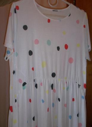 Платье разлетайка горох