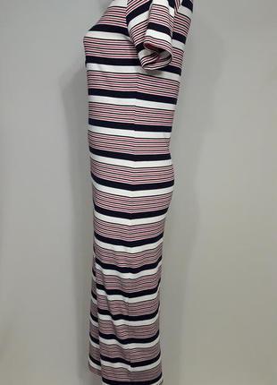Полосатое платье миди2 фото