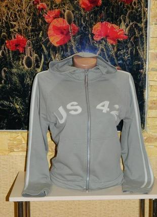 Кофта олимпийка на молнии цвет хаки dorothy perkins размер 44-46.