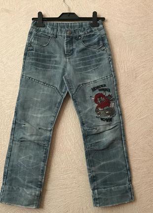 Okay-прикольные джинсы- германия, 8-9 лет
