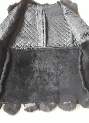 Натуральный жилет3 фото
