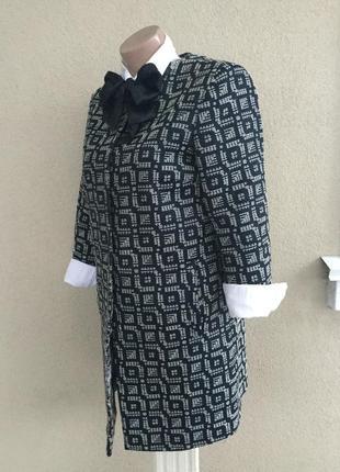Удлиненный жакет,пиджак,тренч,кардиган,легкое пальто фактурное,,хлопок3 фото