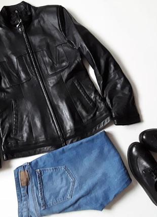 Кожаная короткая куртка1 фото