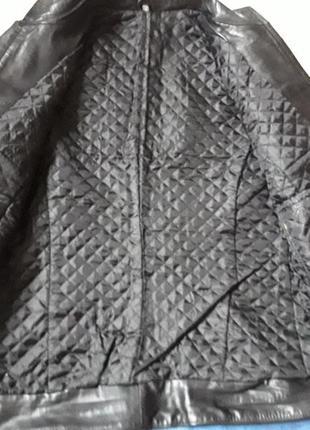 Кожаная короткая куртка3 фото